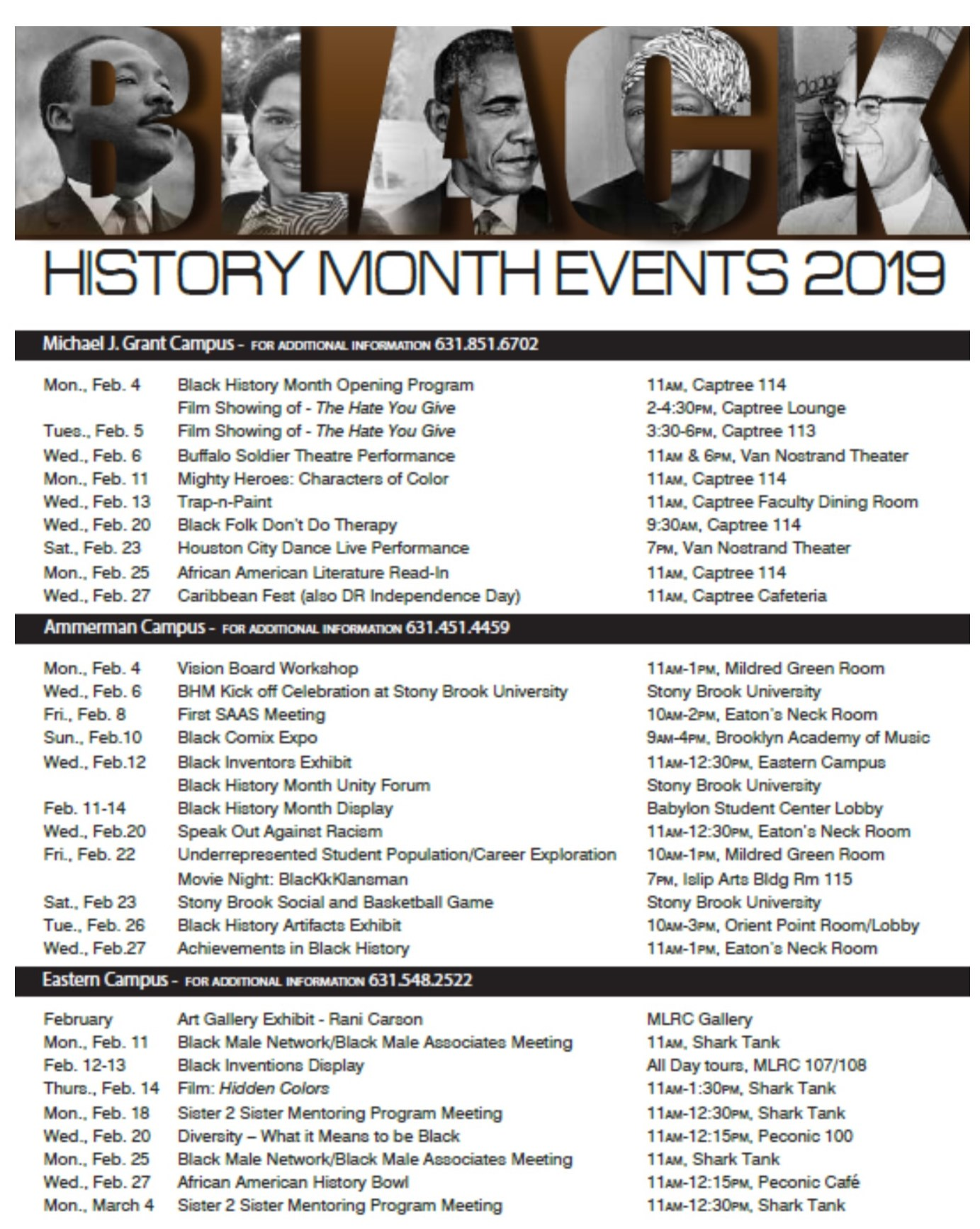 Suffolk Community College Riverhead >> Black History Month at Suffolk County Community College | African Diaspora Alumni Network